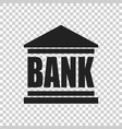 bank building icon in flat style on isolated vector image