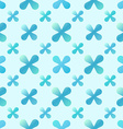 blue creative seamless pattern vector image vector image