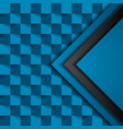 blue squares geometric technology background vector image