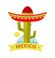bright grunge mexican logo or print vector image