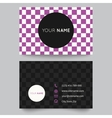 Business card template purple and white pattern vector image vector image