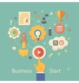 Business Startup Gears infographics with people vector image