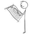 cartoon of man or businessman reading loan vector image vector image