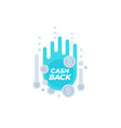 cashback offer sticker vector image