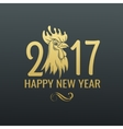 chinese symbol rooster 2017 vector image vector image
