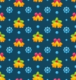 christmas seamless texture with jingle bells vector image vector image
