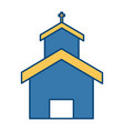 church building symbol vector image vector image