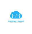 code cloud logo icon design vector image