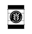 contour tank with plant symbol to environment care vector image
