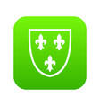 crest icon digital green vector image