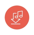 Download music thin line icon vector image