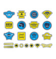 emblems and badges set of baseball team vector image vector image