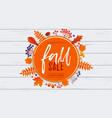 fall sale poster banner leaf pattern background vector image vector image