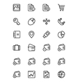 Finance Line Icons 5 vector image vector image