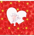 flowers and valentine card vector image vector image