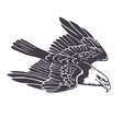 Hand drawn eagle vector image