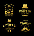 happy fathers day gold design collections vector image vector image