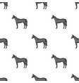 horseanimals single icon in monochrome style vector image vector image