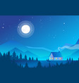 house in mountains forest vector image