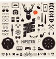 Huge set of vintage styled design hipster icons vector image vector image