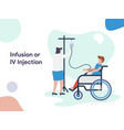 infusion or iv injection vector image vector image