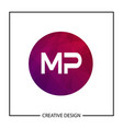 initial letter mp logo template design vector image vector image