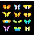 Isolated colorful butterflies logo set vector image vector image