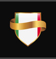italy flag golden badge design vector image