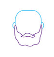 line avatar man head with hairstyle design vector image