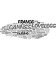 loveless word cloud concept vector image vector image