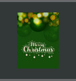 merry christmas glowing green background vector image vector image