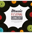 music festival concert poster vector image vector image
