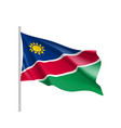 namibia realistic flag vector image vector image
