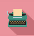 old typewriter icon flat style vector image vector image