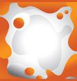 orange egg yolk abstract background with fresh egg vector image vector image