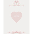 Paper letter with floral patterns and love heart vector image vector image