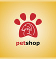 pet shop cat and dog vector image