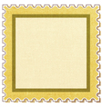 Postage stamp square vector image vector image