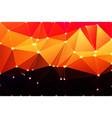 purple orange yellow red brown geometric vector image vector image