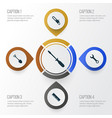 repair icons set collection of saw ruler turn vector image vector image