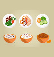 rice and porridges collection vector image vector image