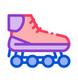 rollers icon outline vector image