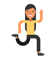 Running woman Flat isolated on white background vector image