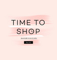 sale banner time to shopping online shopping vector image