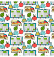 seamless colored back to school pattern with vector image vector image