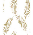 seamless palm leaf pattern vector image vector image