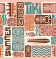 seamless tropical tiki pattern vector image