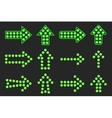 Set of arrows of green light vector image