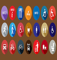 set of information icons Flat vector image