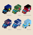 set of isometric 3d cargo vector image vector image